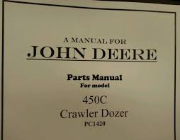 john deere jd 450c crawler dozer parts manual pc1420 finney