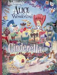 vintage disney alice wonderland alice cinderella book