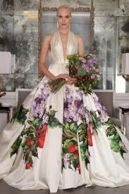Wedding Designers The Latest U201d Romona Kevezaand U201d Floral Wedding Dresses Spring And