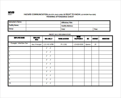 10 attendance sheet templates free word excel pdf documents