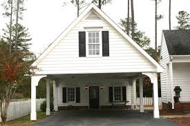 carports country style homes white house floor plan carport