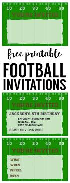 football themed baby shower football party invitation template free printable paper trail