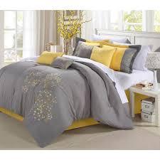 Yellow Bedding Set Petunia 12 Bed In A Bag Bedding Comforter Set Walmart