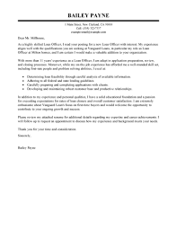 Mortgage Resume Leading Professional Loan Officer Cover Letter Examples