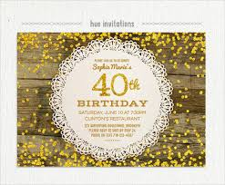 invitation for 40th birthday 21 40th birthday invitation templates