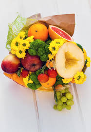bouquet of fruits the original edible bouquet of fruits stock image image