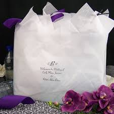16 x 12 custom printed frosted wedding welcome bags