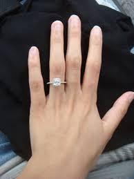 engagement rings cushion cut blue nile cushion cut halo engagement ring photos weddingbee