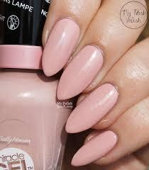 my polish stash sally hansen miracle gel pinky promise u0026 pink tank