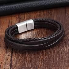 fashion stainless steel bracelet images Xqni 2017 fashion stainless steel chain genuine leather bracelet jpg