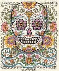 imaginating sugar skull cross stitch pattern 123stitch