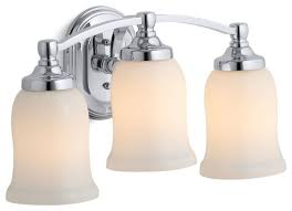 Traditional Bathroom Vanity Lights Kohler Bancroft Triple Wall Sconce Traditional Bathroom Vanity