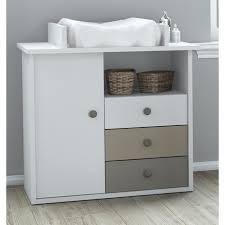 chambre bébé plage table à langer plage commode à langer coloris blanc basalte et