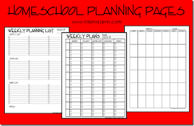 printable homeschool lesson plan template ultimate free homeschool planning list free homeschool planners