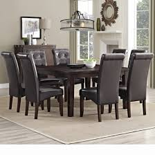 dining set idea with gray table whiet base white chairs and brown 9 piece kitchen dining room sets wayfair eastwood set dining room light fixtures dining