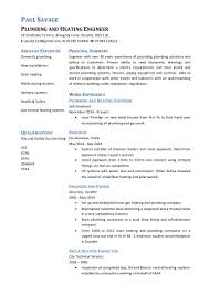 Plumber Resume Sample by Paul Savage Plumbing And Heating Engineer Cv