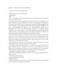 cover letter internship computer science hvac cover letter sle