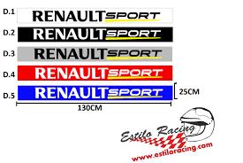 logo renault sport renault estilo racing