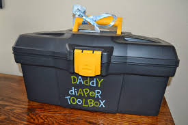 a u0027daddy diaper toolbox u0027 such a fun gift for a baby shower