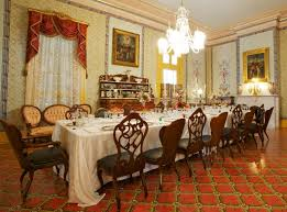 Long Dining Room Chandeliers Long Dining Table With White Table Cloth Brown Wooden Dining Chair