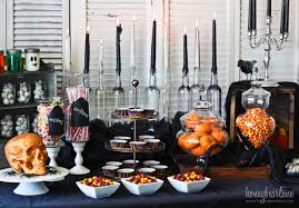 halloween cupcake stands spooky halloween party set up