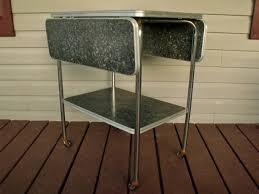 Drop Leaf Bar Table 2 Tier 50s Kitchen Cart Rolling Chrome Formica Drop Ktsattic Drop