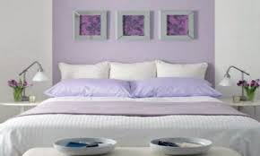 purple color bedroom wall animal pattern throws light grey wall