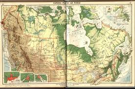 Canada Physical Map Canada Physical And Political