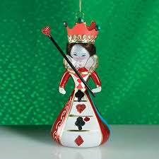 de carlini queen of hearts italian mouthblown christmas ornament
