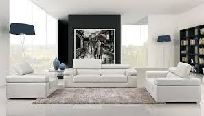 White And Black Sofa Set by Divani Casa Fine Modern Sofas