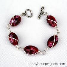 make bracelet beading wire images Wire wrapped bead bracelet happy hour projects jpg