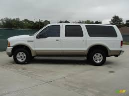2000 ford excursion oxford white 2000 ford excursion limited 4x4 exterior photo