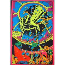 Blacklight Rugs Hulk Psyklop Marvel Third Eye Black Light Poster Illustraction