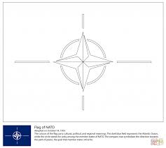 flag of nato for coloring page countries u0026 culture