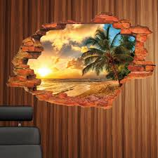aliexpress com buy creative home decor 3d wall stickers broken
