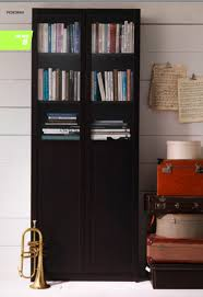 Billy Bookcases With Doors Bookcase With Doors Ikea Living Room Cintascorner Ikea Borgsjo