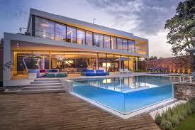 a cool beachfront villa with geometric architecture
