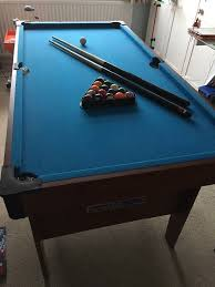 4ft pool table folding 4ft 6in folding pool table with pool balls cues chalk triangle