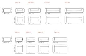 3 seat sofa dimensions shorter sofa by milano bedding design