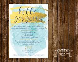 aqua gold foil cocktail party launch party by uncommonpaperie