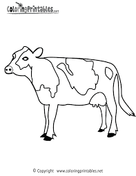 cow coloring page a free animal coloring printable