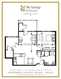 Barber Shop Floor Plan Independent Senior Living In Missoula Mt The Springs At Missoula