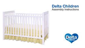Delta 3 In 1 Convertible Crib Delta Children Waves Bennington 3 In 1 Crib Assembly