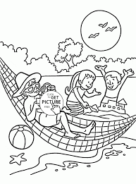 super summer vacation coloring page for kids seasons coloring