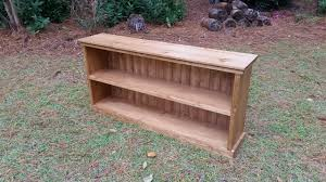 Cottage Sofa Table Hampton Low Two Shelf Wood Bookcase