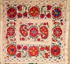 Suzani Fabric Chair Uzbek Turkic Turkish Suzani Fully Hand Made Emboidery And