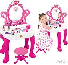 Vanity Playset Amazon Com Wolvol 2 In 1 Kids Vanity Playset With Musical Piano