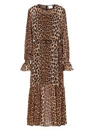 maxi kjole zomi maxi kjole leopard køb just lang leopard kjole online