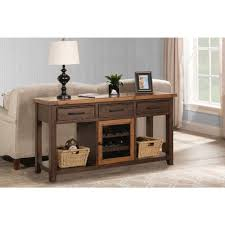 sofa table with wine rack hillsdale furniture tuscan retreat caf sua 2 tone sofa table with