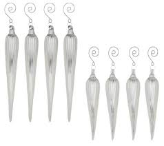 8 glass icicle ornaments page 1 qvc